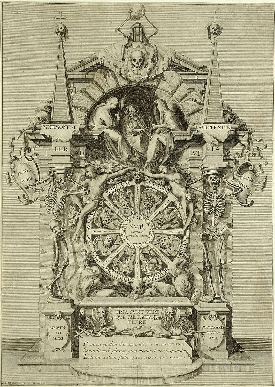 Johann Elias Ridinger Triumph of Death. Engraving & etching after Andrea Andreani