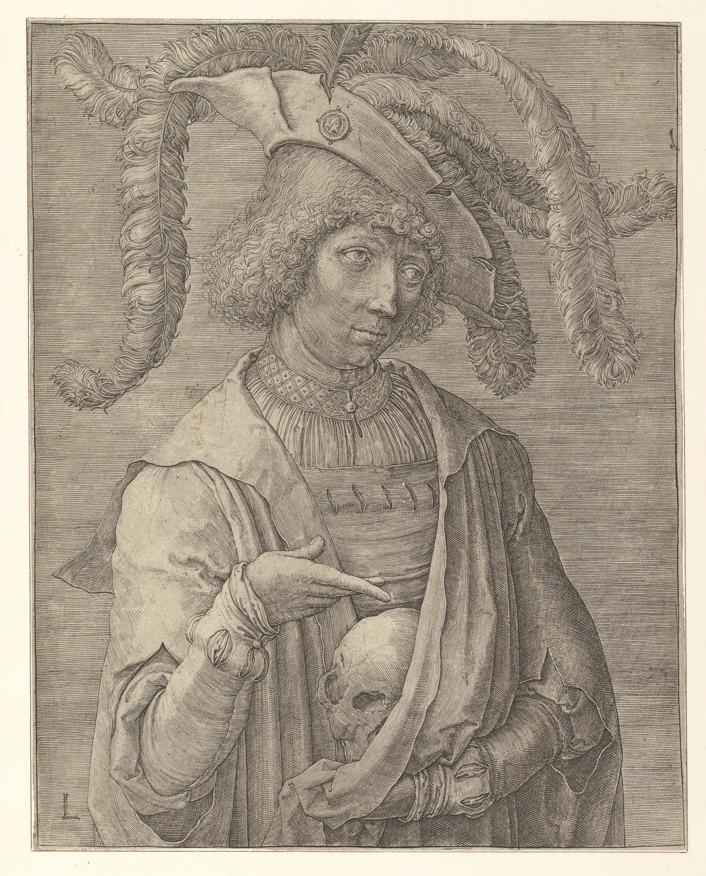 Lucas de Leyde 1519 ca Portrait d'un jeune homme MET