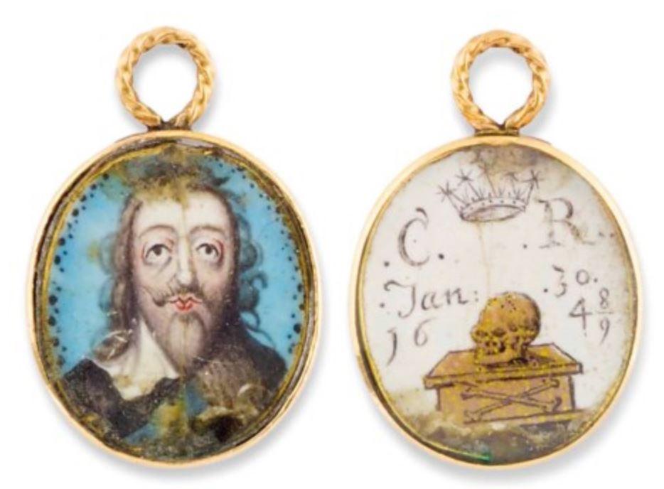 Médaillon Charles I 1700 ca coll privee