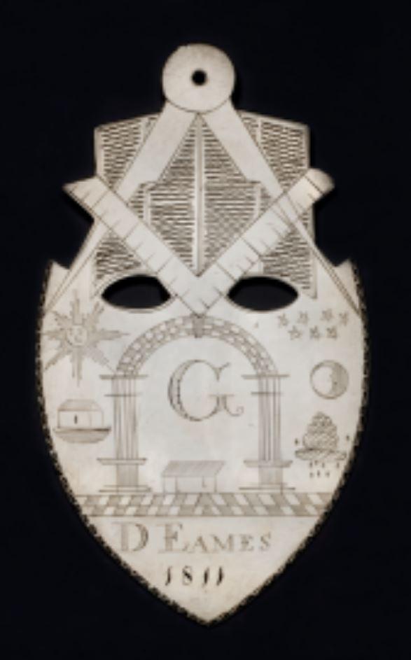 Mark Medal made for D.Eames, 1811. Probably New York Scottish Rite Masonic Museum Lexington