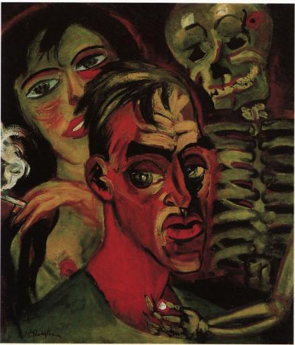 Max Pechstein 1920 Self-Portrait with Death