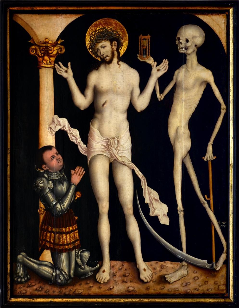 Meister IW 1530 Homme de douleurs avec donateur inconnu Diozesangalerie und -museum, Litomerice