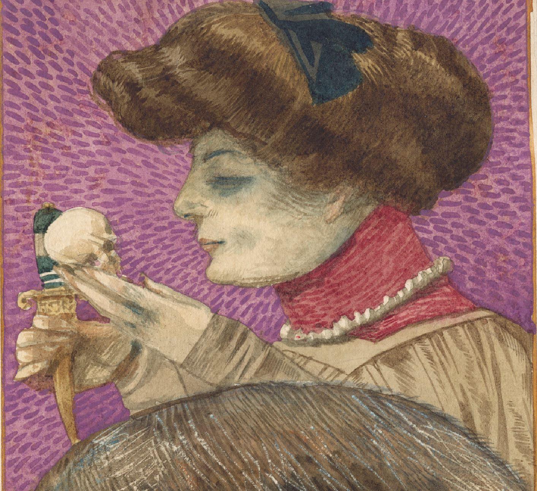 Mossa 1905 Portrait psychologique de l'auteur coll priv detail
