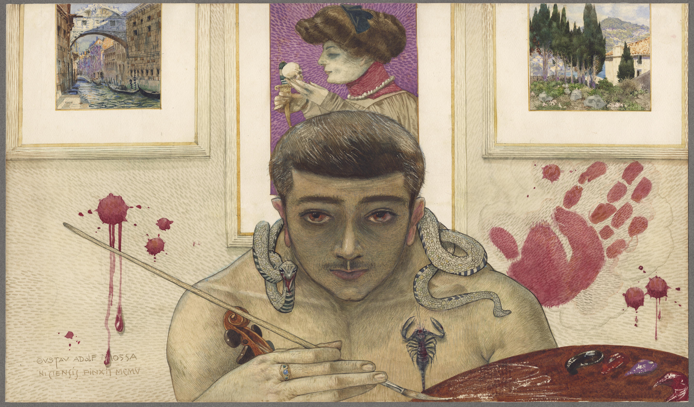 Mossa 1905 Portrait psychologique de l'auteur coll priv