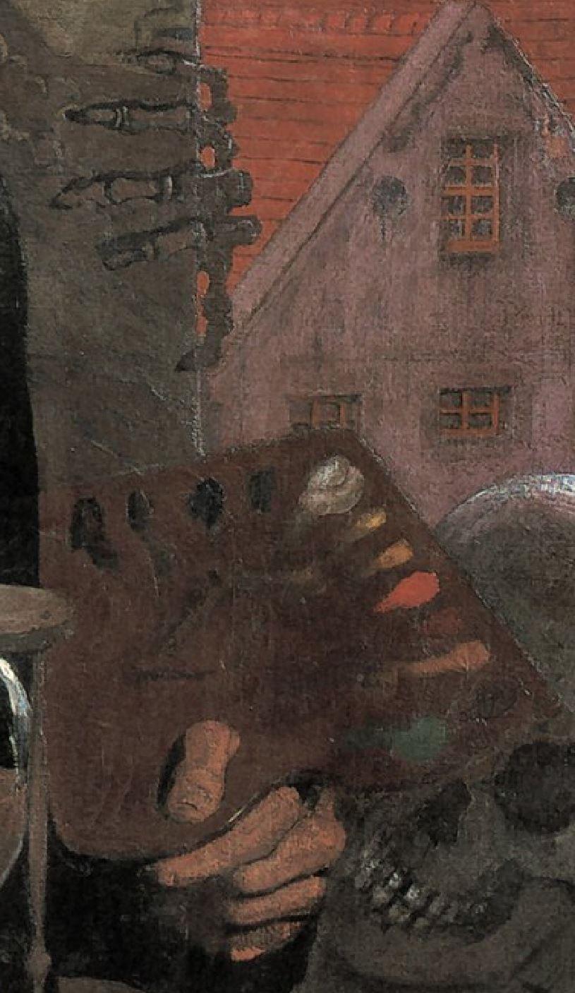 Oskar_Zwintscher 1897 Autoportrait Chemnitz, Stadtische Kunstsammlungen detail