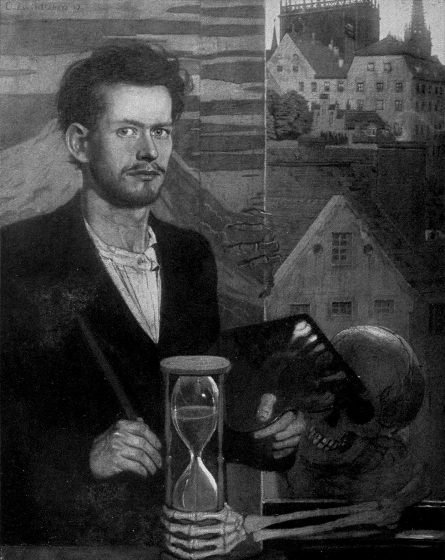 Oskar_Zwintscher 1897 Autoportrait Chemnitz, Stadtische Kunstsammlungen
