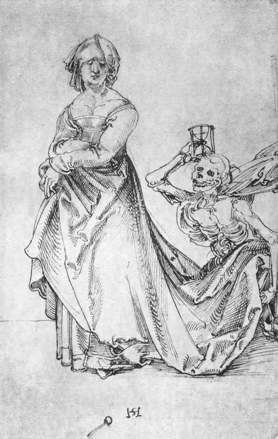 Schäufelein, Hans Leonhard, Frau und Tod ca. 1506 staedelmuseum. Francfort