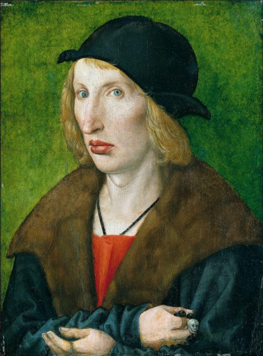 Wolf Traut 1501 Portret van Hans Gyger Staedel Museum, Frankfurt am Main