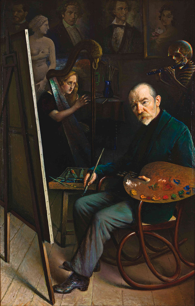 Yehuda_Pen 1924 Self-Portrait_with_Muse_and_with_DeathMuseum of Vitiebsk