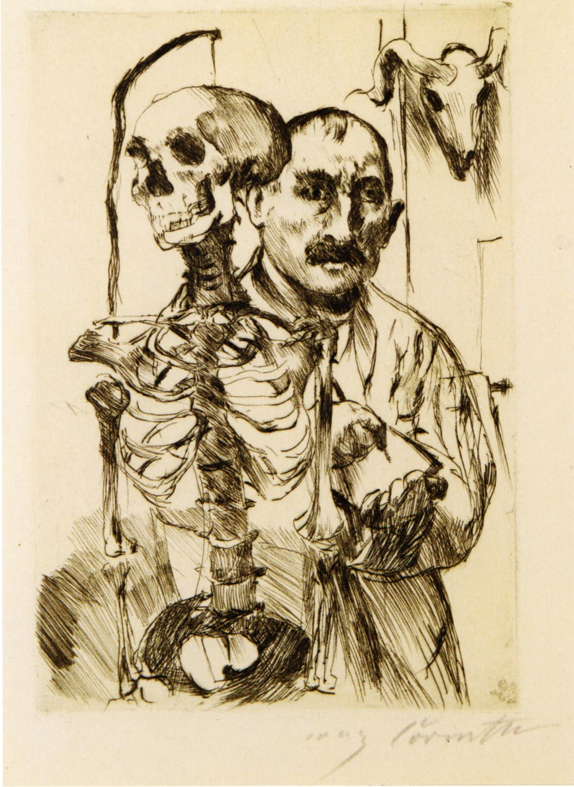 corinth 1916 Der Kunstler und der Tod I