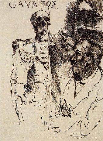 corinth 1916 Der Kunstler und der Tod II