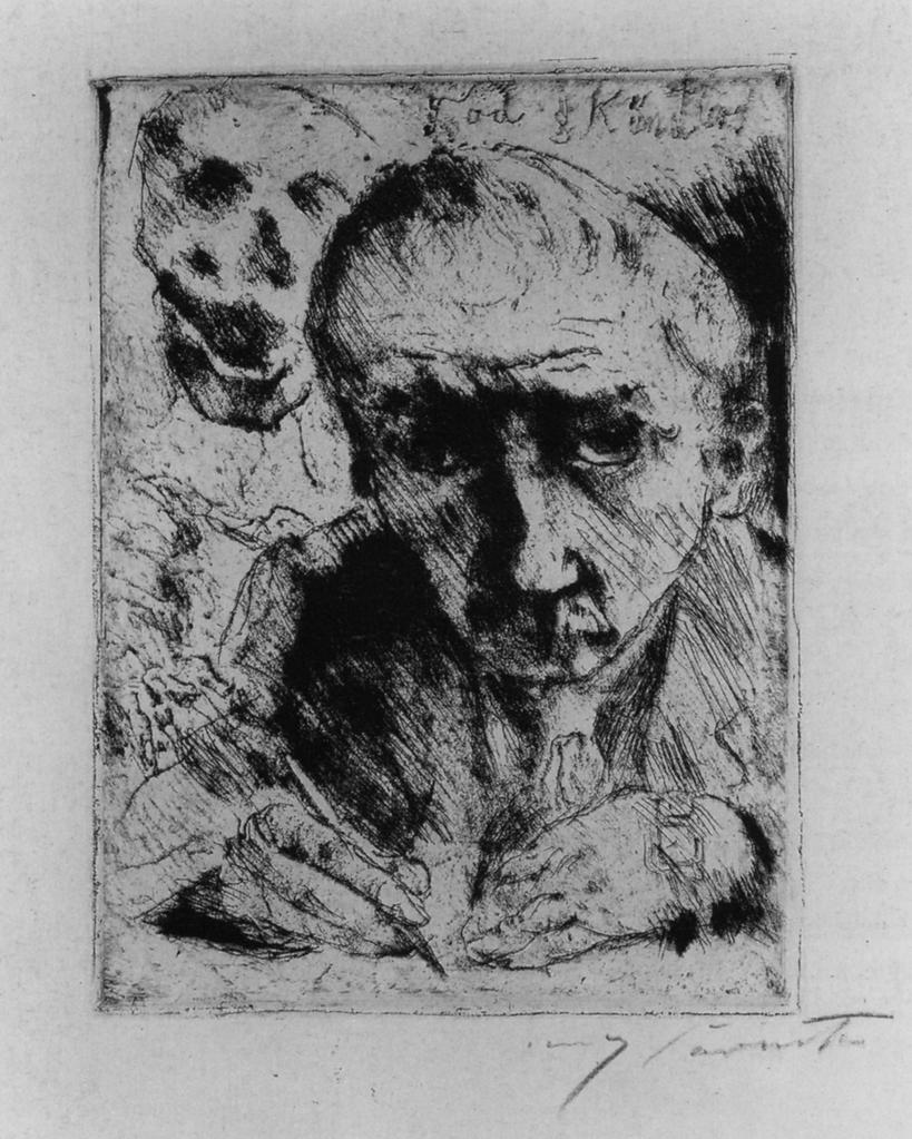 corinth 1922 Totendanz 1 Der Kunstler und der Tod