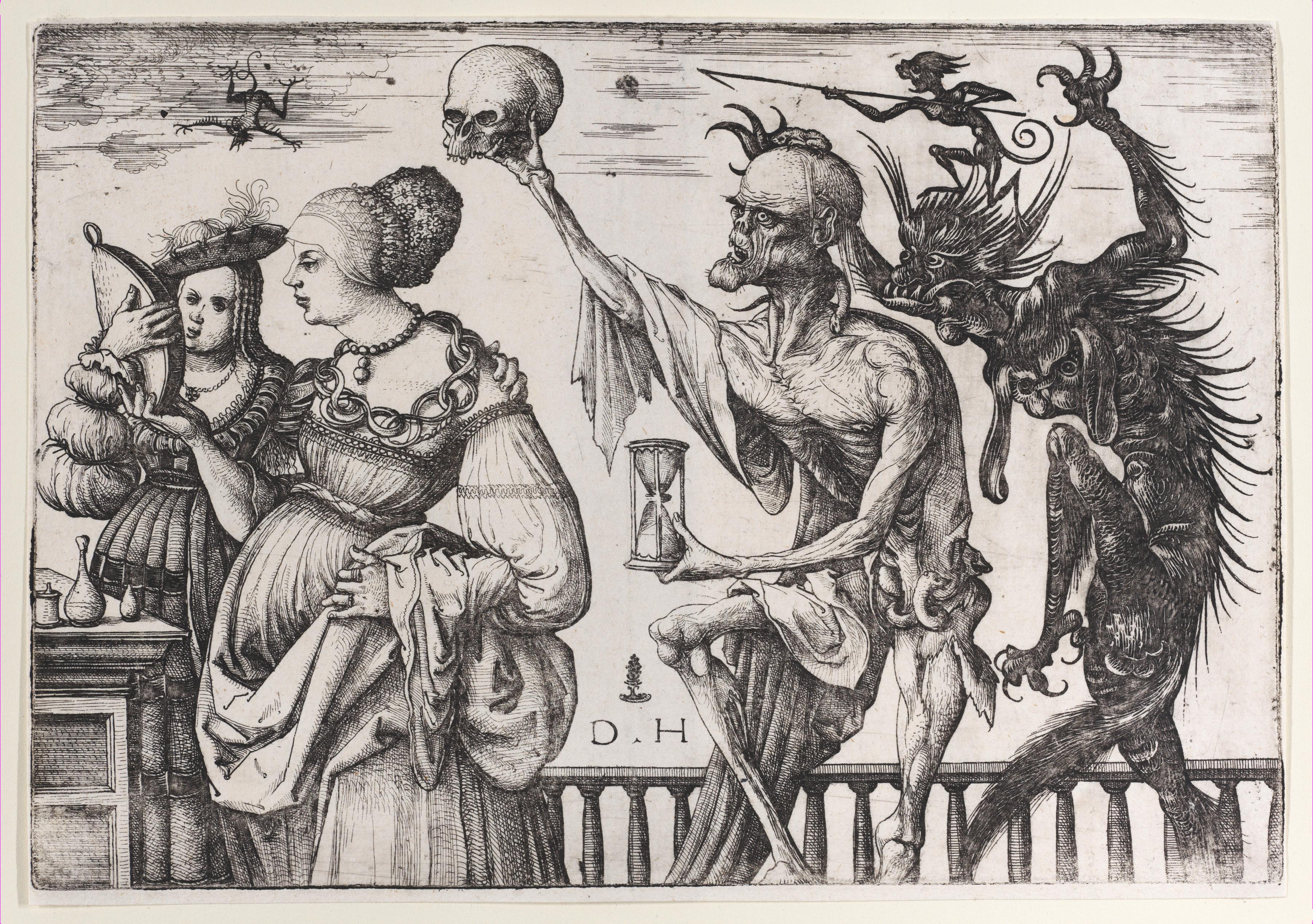daniel-hopfer 1510-15 tod-und-teufel-ueberraschen-zwei-frauen MET