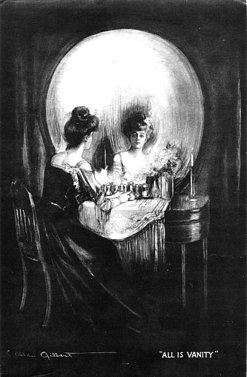 illusion 1892 C. Allan Gilbert Tout est vanite publie par Life en 1912.