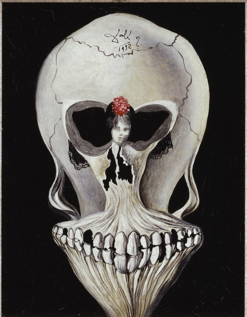 illusion Dali 1939 Ballerine - Tete de mort coll priv