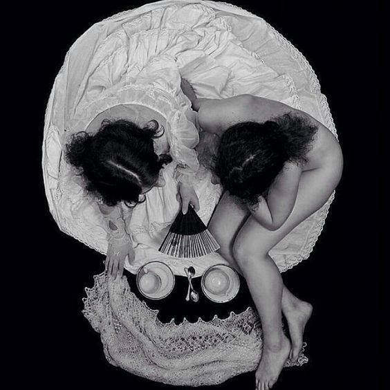 illusion photo Can you see the skull Morning Tea by Serge N. Kozintsev