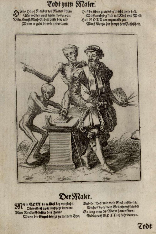 mathieu merian 1616 Danse macabre de bale 1440 Le peintre