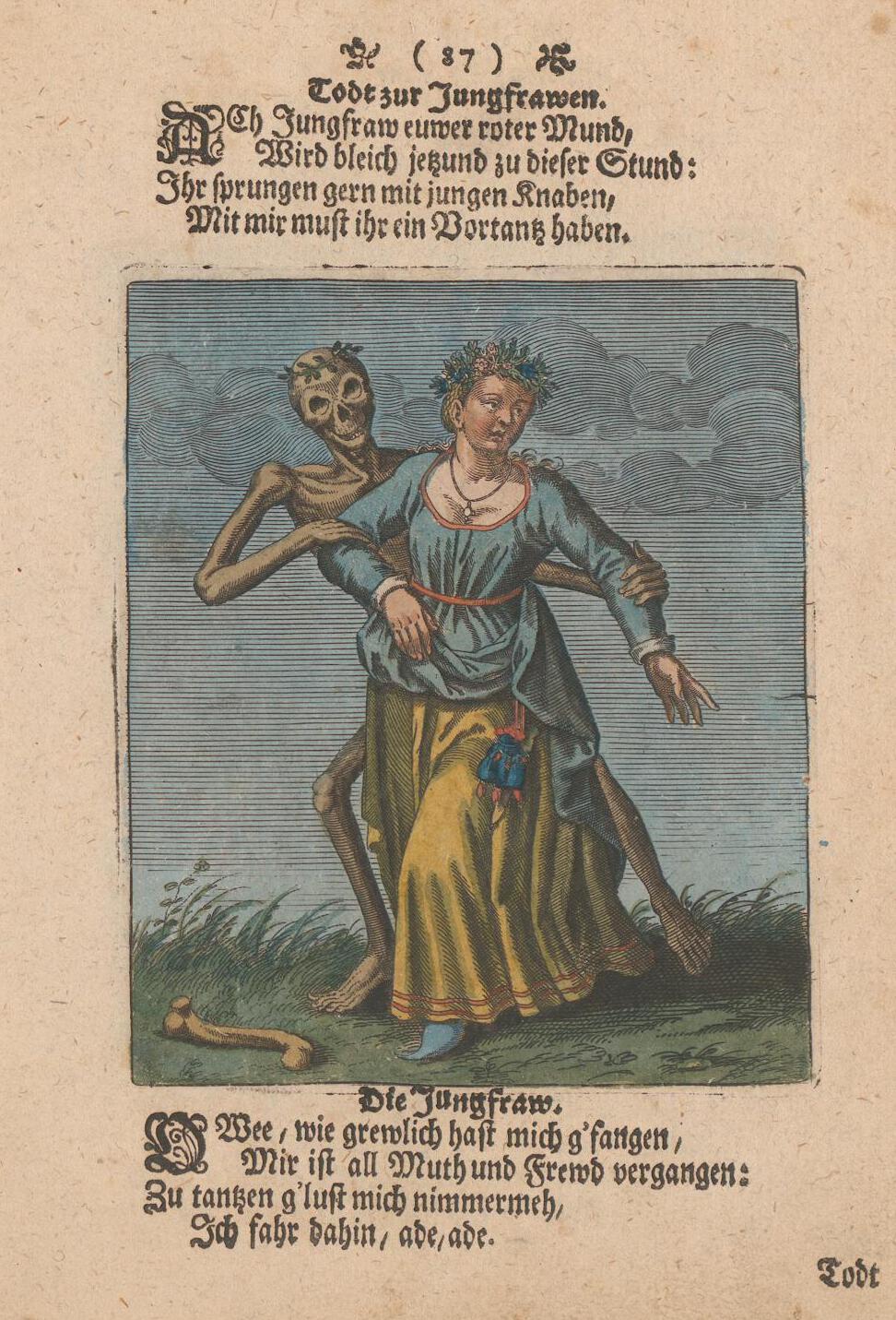 mathieu merian 1725 Danse macabre de bale 1440 La pucelle