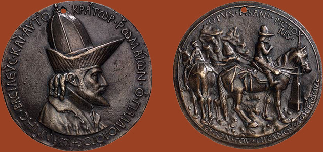 pisanello 1438 Medaille de Jean VIII Paleologue Staatliche Museen Berlin