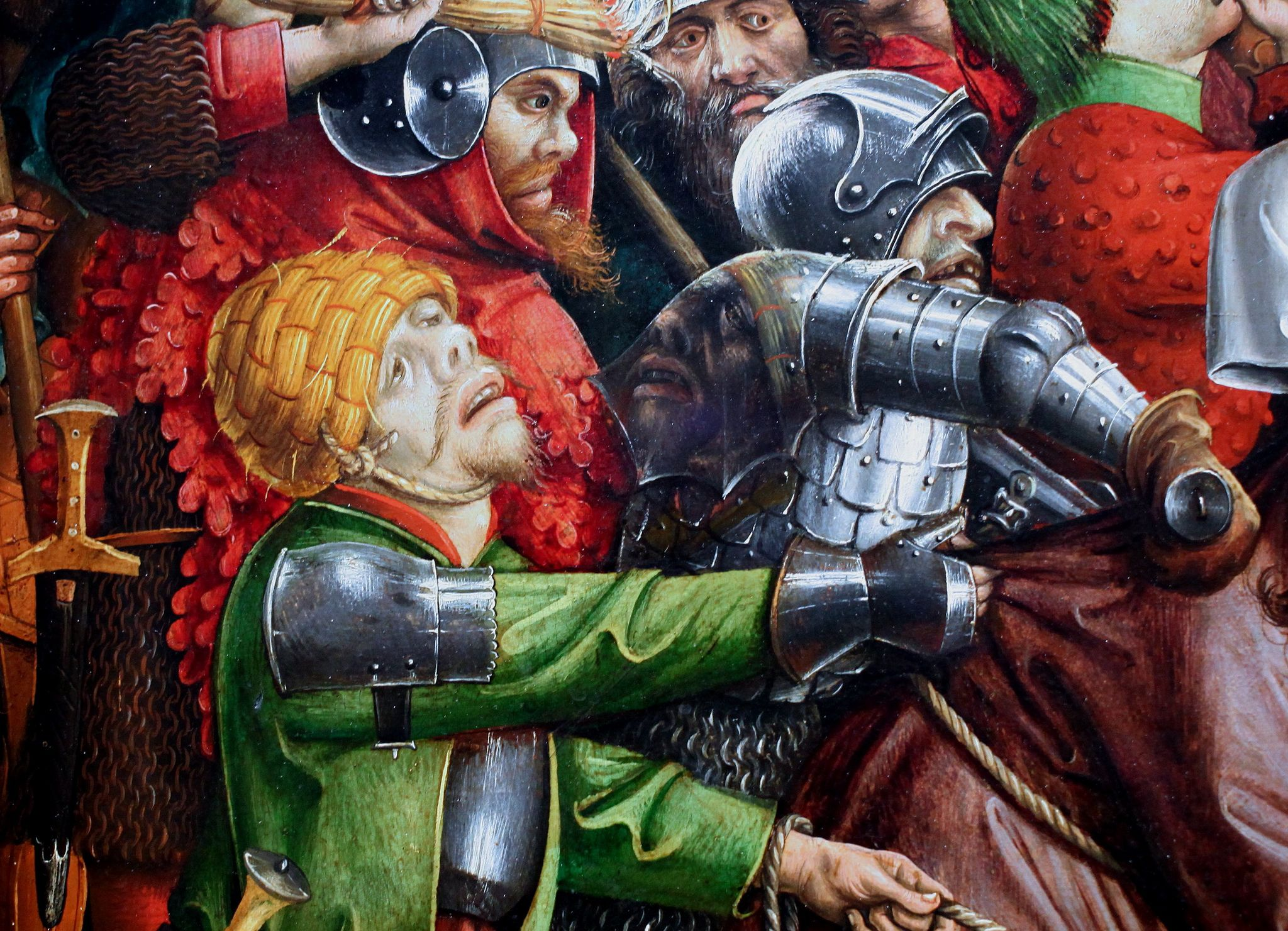 1450 ca Master_of_the_Karlsruhe_Passion Arrest_of_Christ Wallraf–Richartz Museum Cologne detail