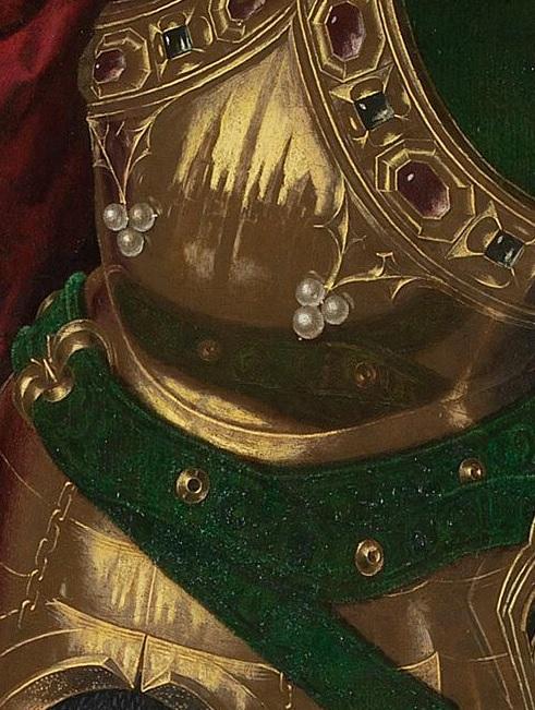 1468 San Michele trionfa sul diavolo. Bartolome Bermejo National Gallery cite celeste