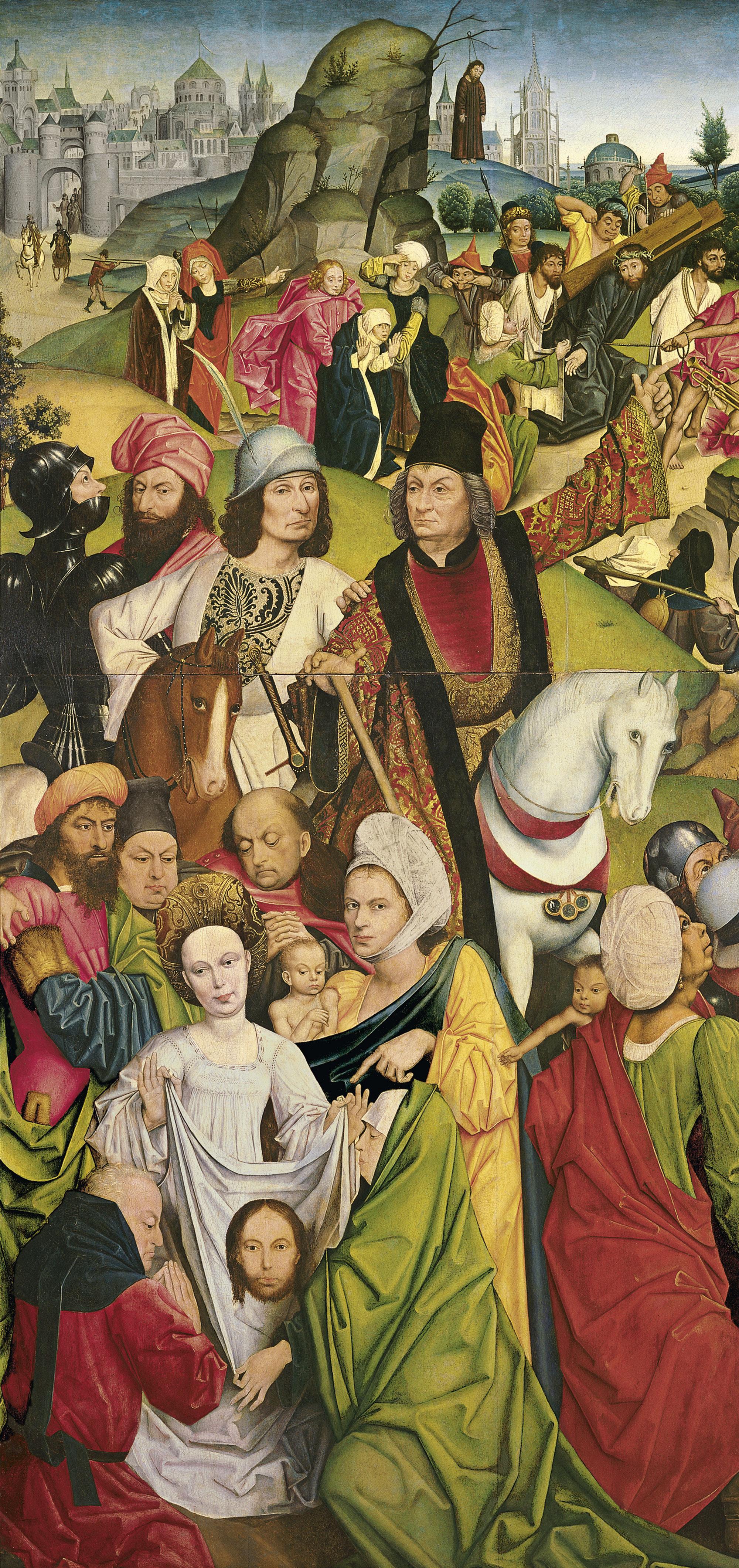 1477-78 DERICK BAEGERT Cristo che porta la Croce e Veronica con il sudario Thyssen-Bornemisza, Madrid