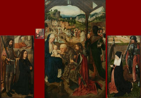 1485 ca Geertgen tot Sint Jans Adoration of the Magi, Narodni galerie Prague