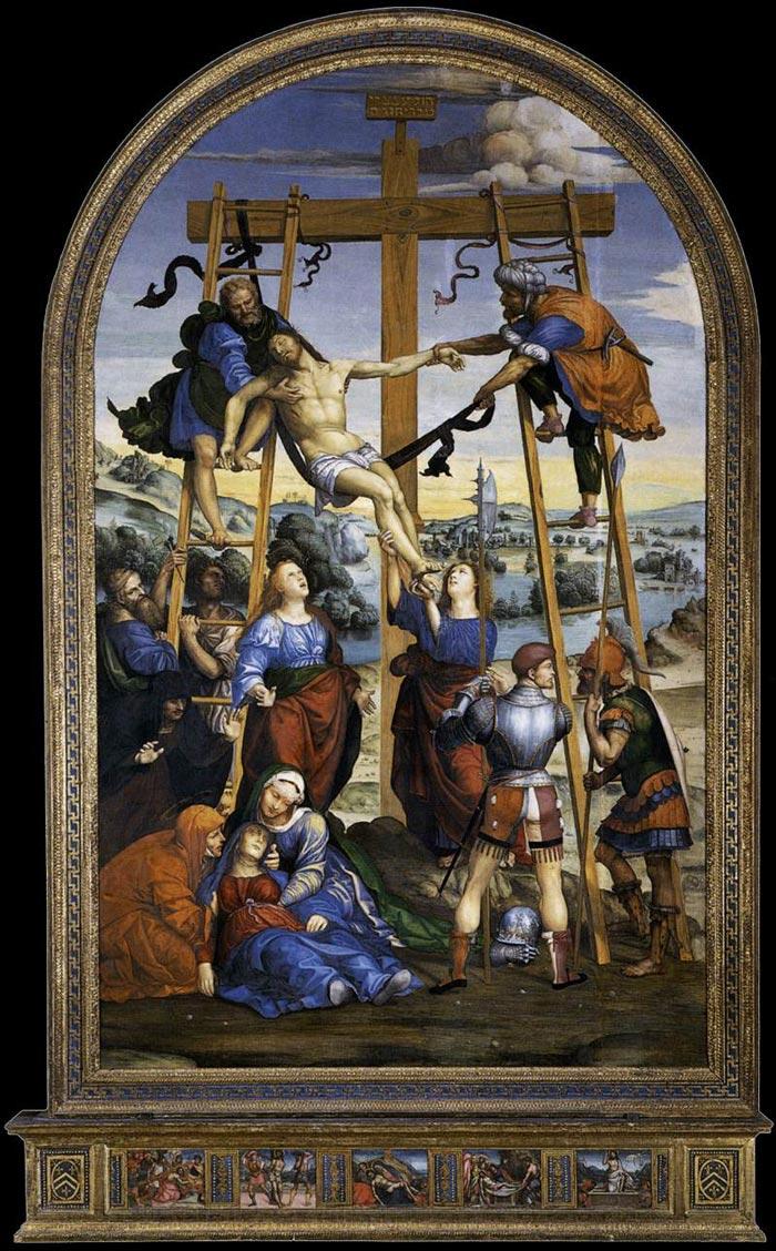 1510 Sodoma,Descente de croix, Pinacoteca nazionale, Sienne chapelle Cinuzzi eglise San Francesco