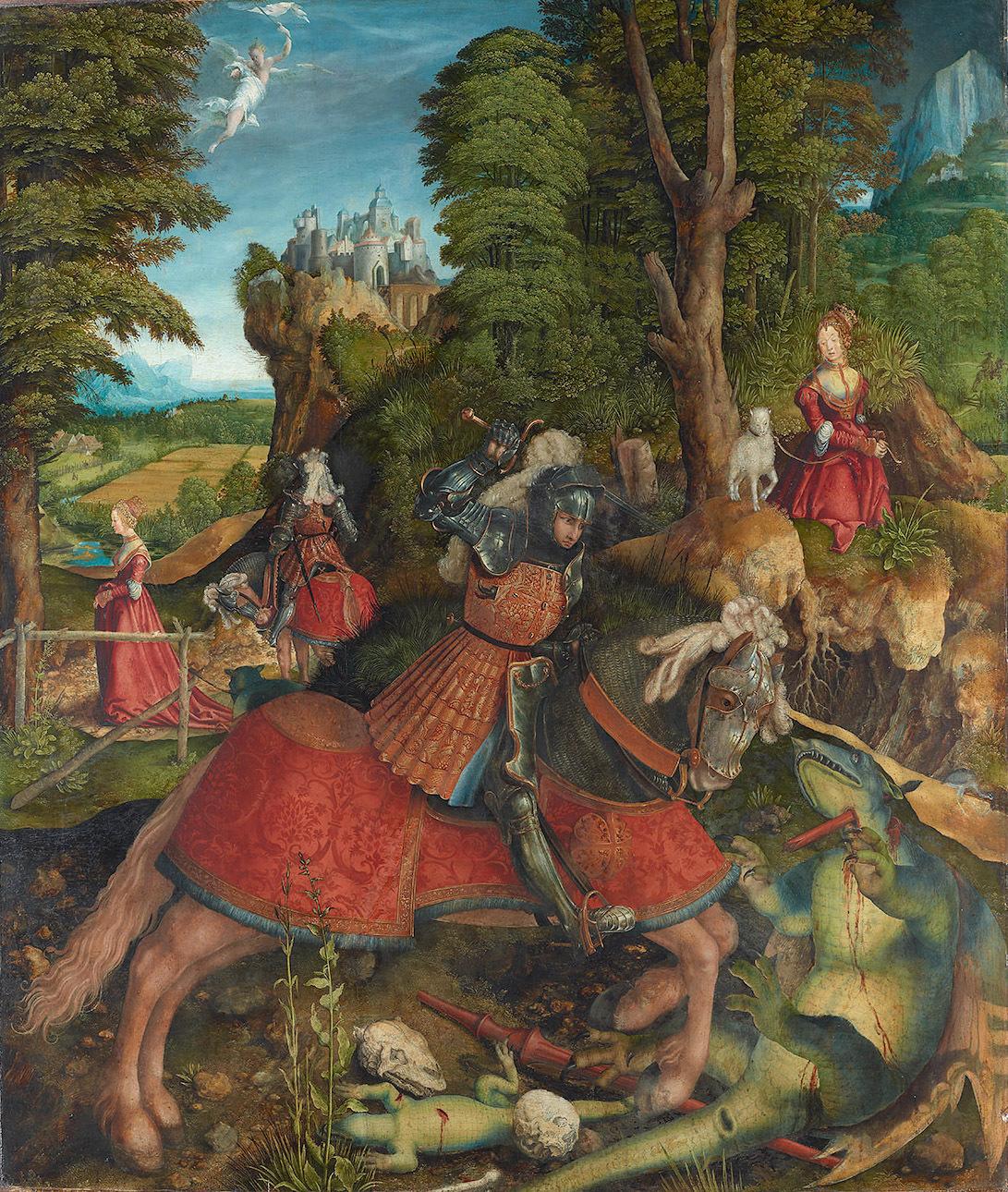 1515 Leonhard_Beck,_,_Kunsthistorisches_Museum_Wien,_Gemäldegalerie_-_Hl._Georg_im_Kampf_mit_dem_Drachen_