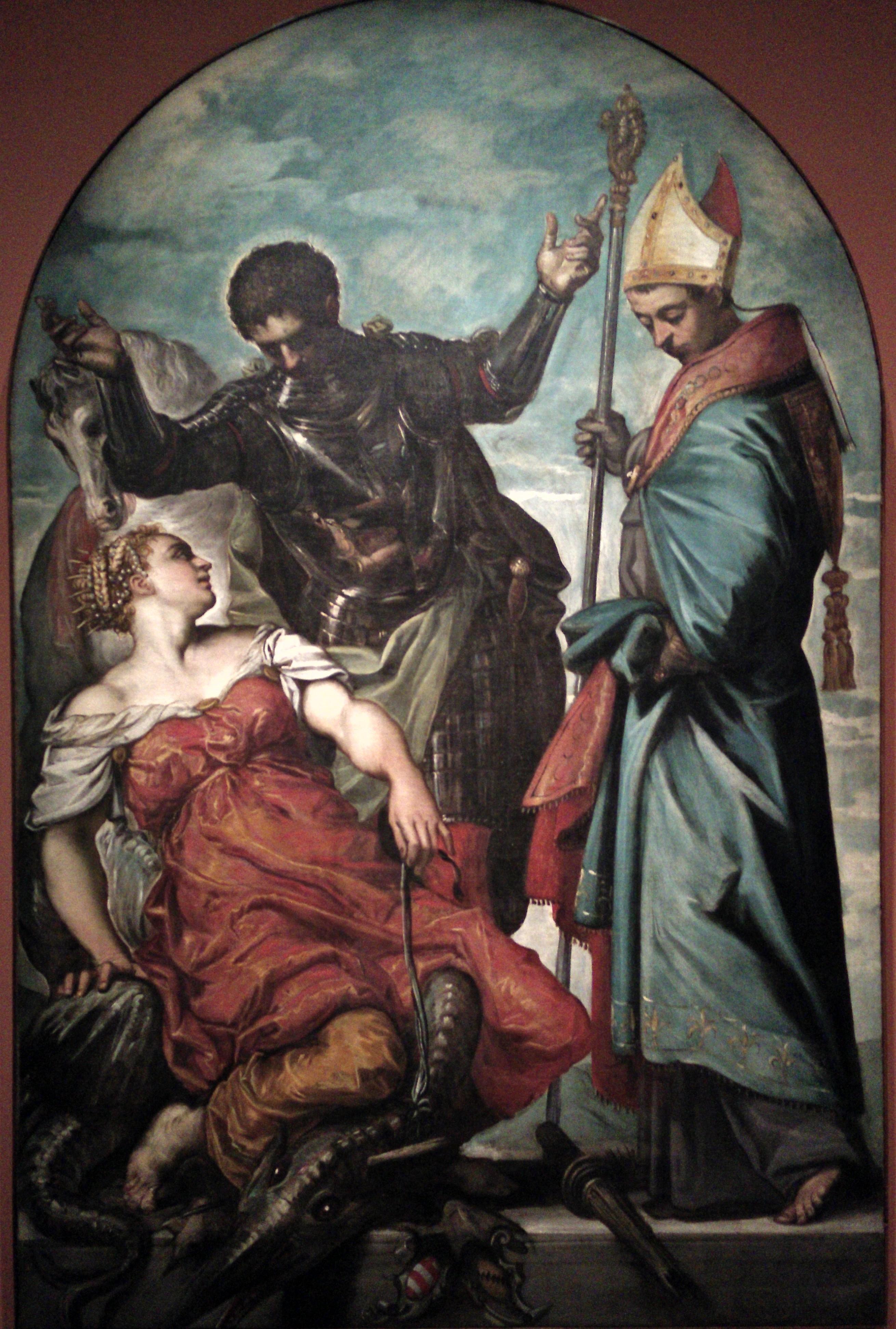 1551 Tintoret La princesse St Georges et St Louis Accademia Venise