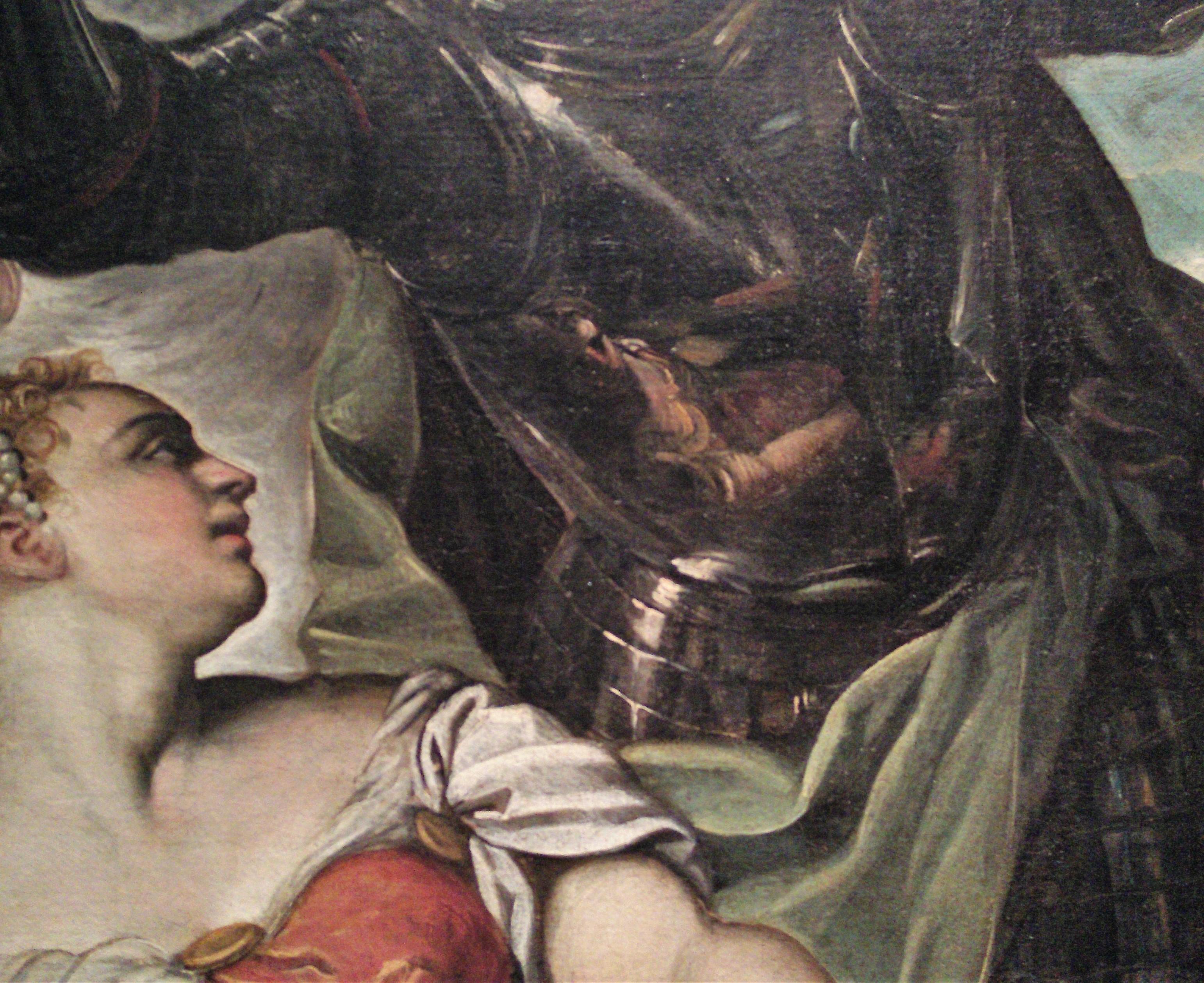 1551 Tintoret La princesse St Georges et St LouisAccademia Venise detail