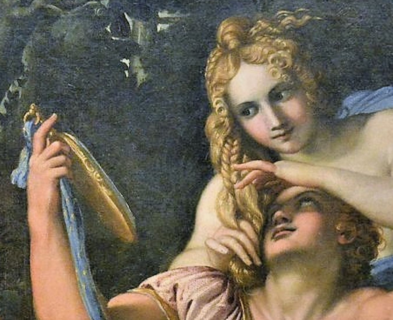 1601 ca rinaldo-armida Carrache Musee de Capodimonte detail regards