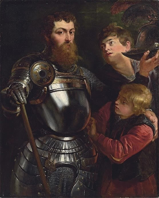 1613 A Commander Being Armed for Battle by Peter Paul Rubens