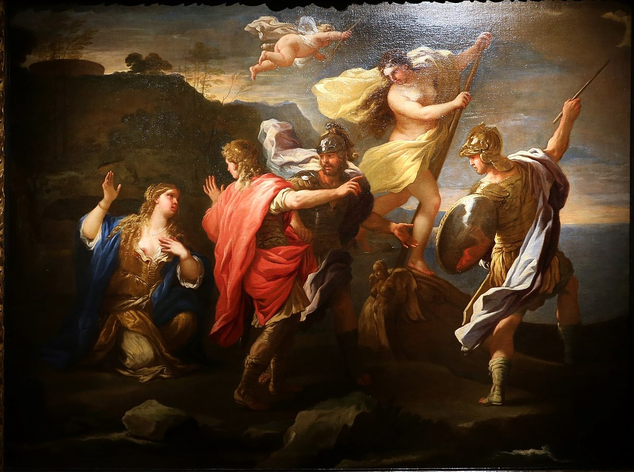 1680 Ronaldo and Armida by Luca Giordano coll part