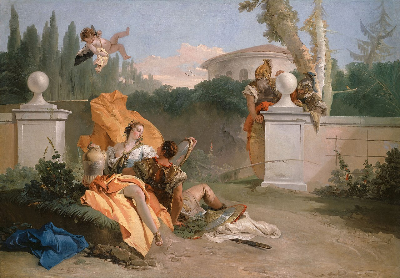 1755 tiepolo rinaldo-et-armida-dans-son-jardin Art Institute of Chicago