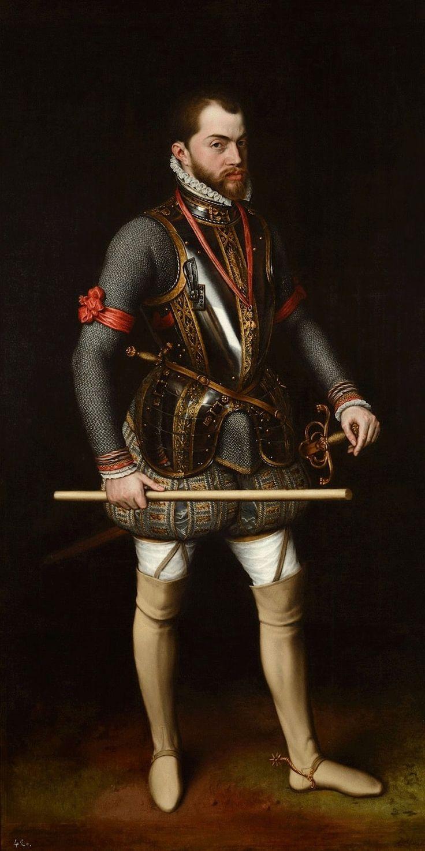 Anthonis_Mor 1557 Felipe_II San Lorenzo de El Escorial,