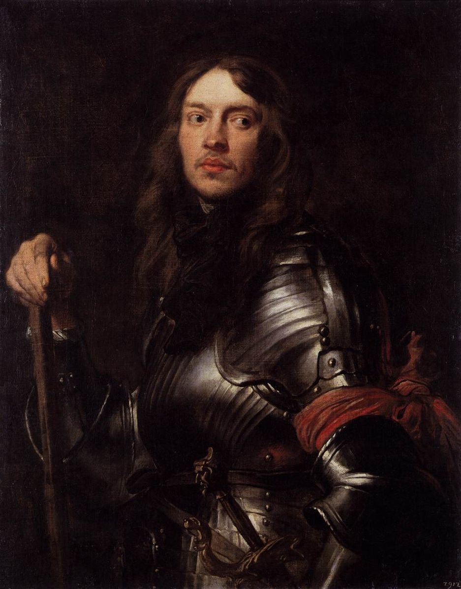 Anthony_van_Dyck 1625-27 _Portrait_of_a_Man_in_Armour_with_Red_Scarf_Gemaldegalerie Alte Meister Dresde
