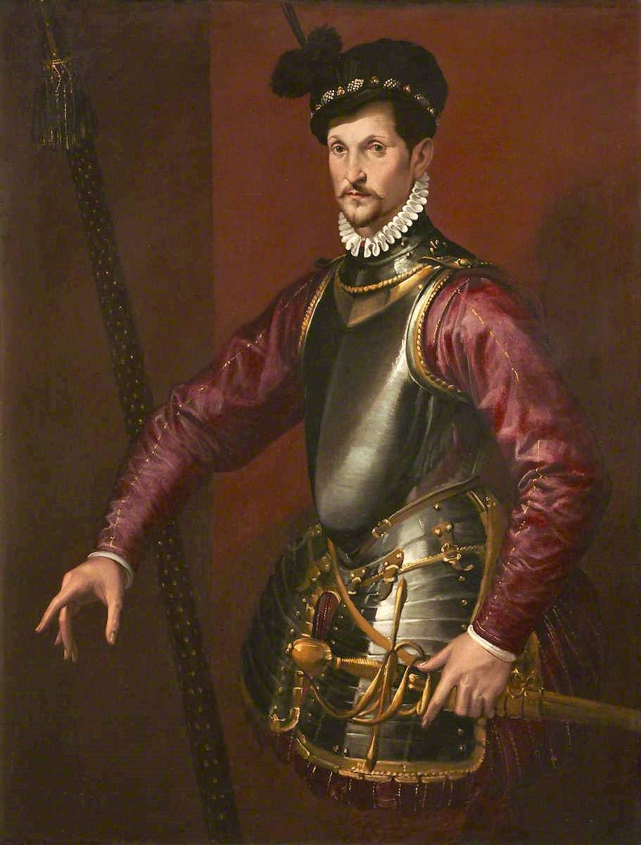 Passarotti, Bartolomeo, 1529-1592; Portrait of an Unknown Soldier in Armour