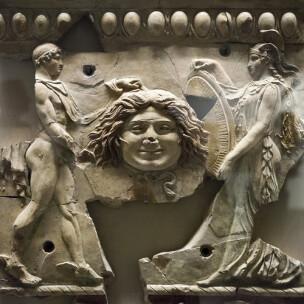 Bas relief en terre cuite provenant du temple dApollon au Palatin epoque d'Auguste Musee du Palatin