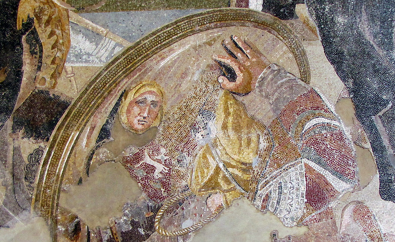 Battle_of_Issus_mosaic_-_Museo_Archeologico_Nazionale_-_Naples-detail-bouclier-photo-Steven-Zucker