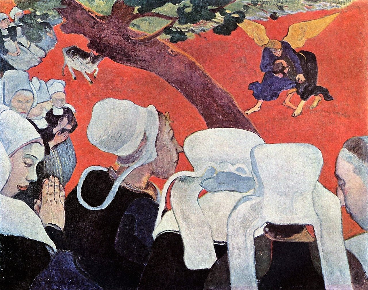 Gauguin 1888 The Vision After the Sermon (Jacob wrestling with the Angel) Scottish National Gallery