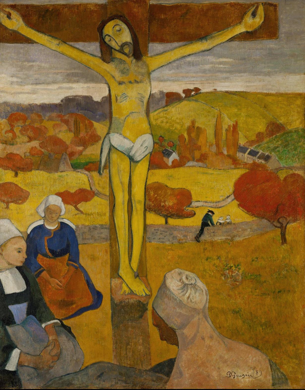 Gauguin 1889 Le Christ jaune galerie d'art Albright-Knox NY 91,1 × 73,4 cm