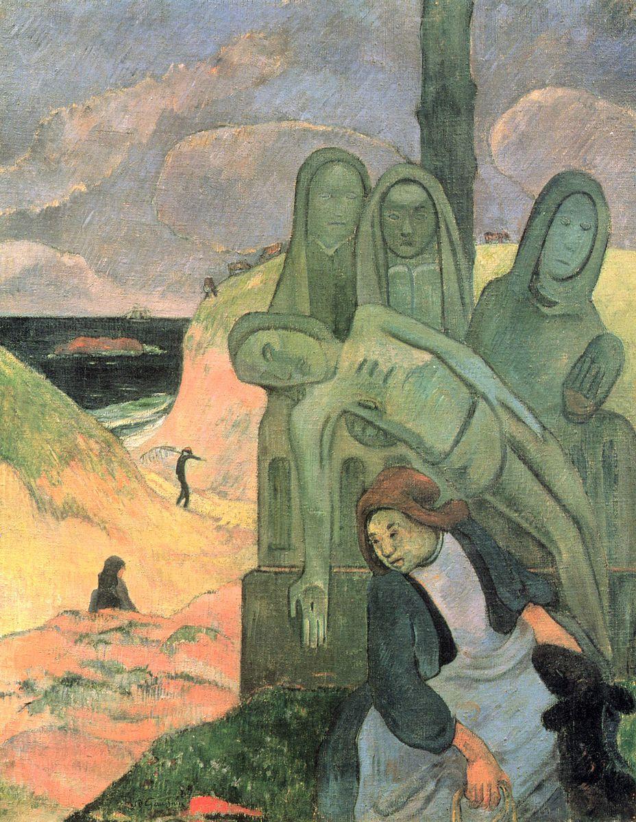 Gauguin 1889 Le Christ vert Musees royaux des Beaux-Arts de Belgique Bruxelles 92 × 73 cm