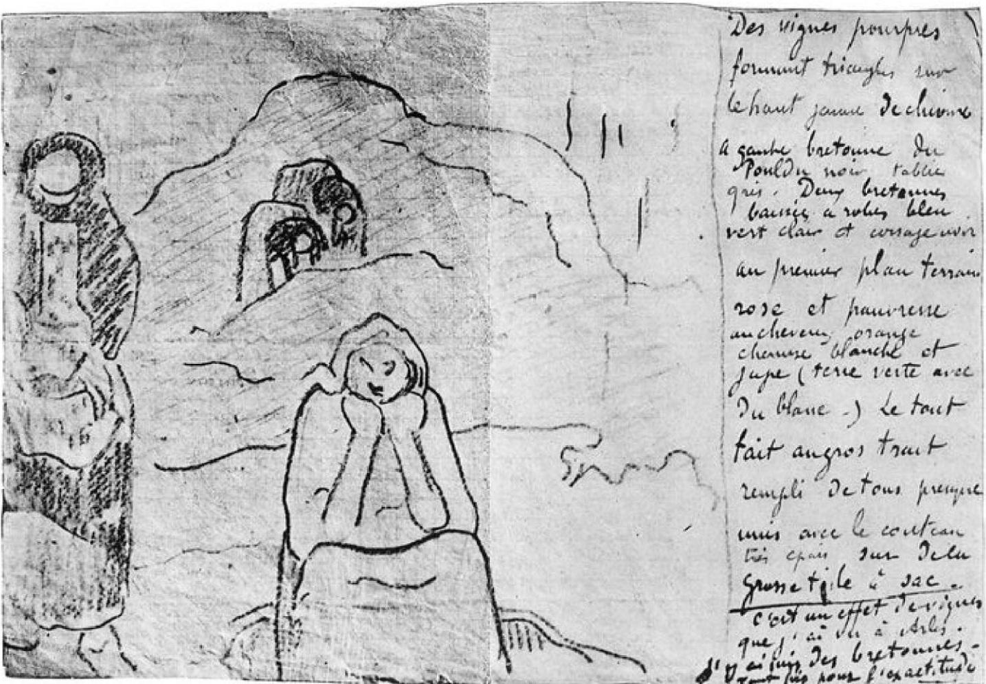 Gauguin Lettre a Emile Bernard novembre 1888