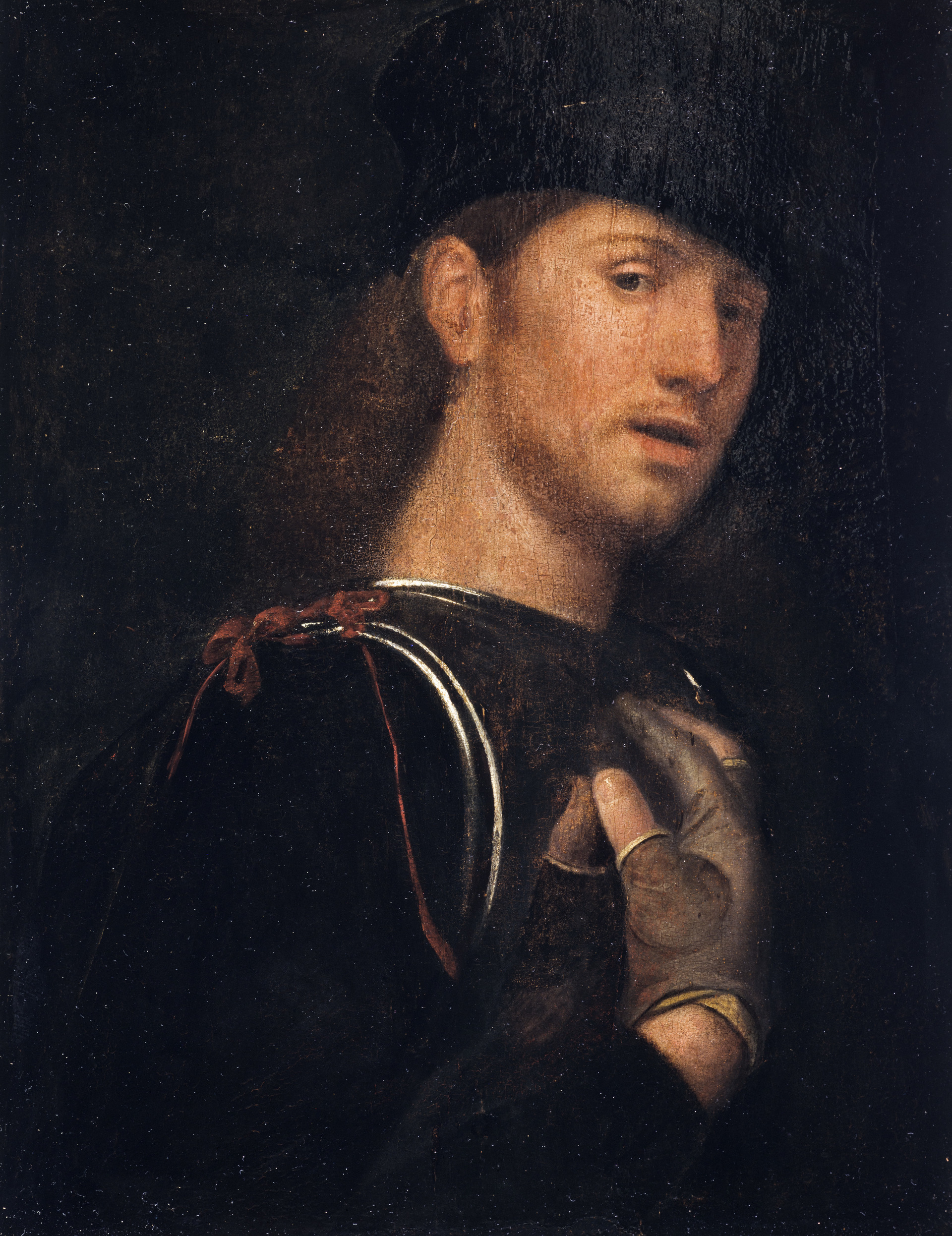 Giorgione-attr-portrait-of-an-archer-Scottish-National-gallery-Edimbourg.