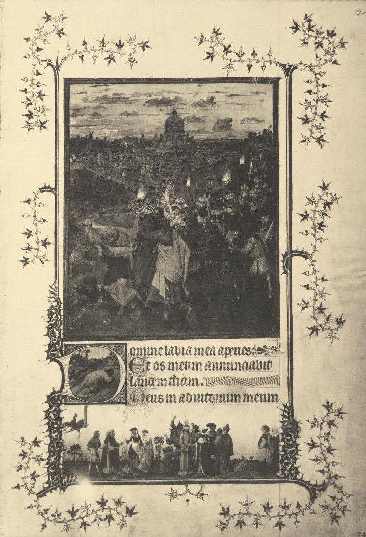 Heures de Turin Milan photo durrieu (detruit en 1904) fol 24 planche XV