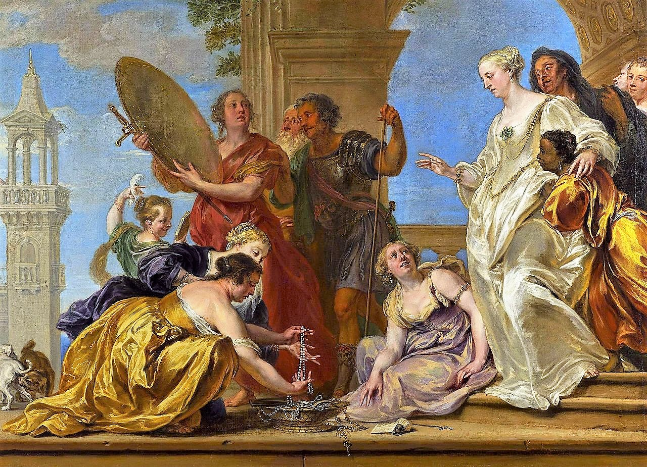 Jan Boeckhorst 1650 ap Achilles among the daughters of Lycomedes National Museum in Warsaw