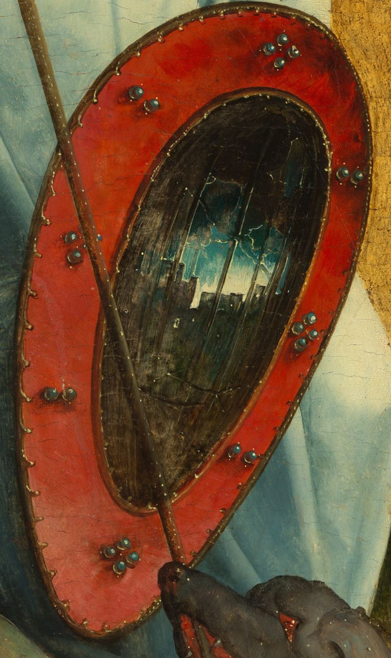 Juan de Flandes 1505–9 Saints Michel and Franoois MET detail
