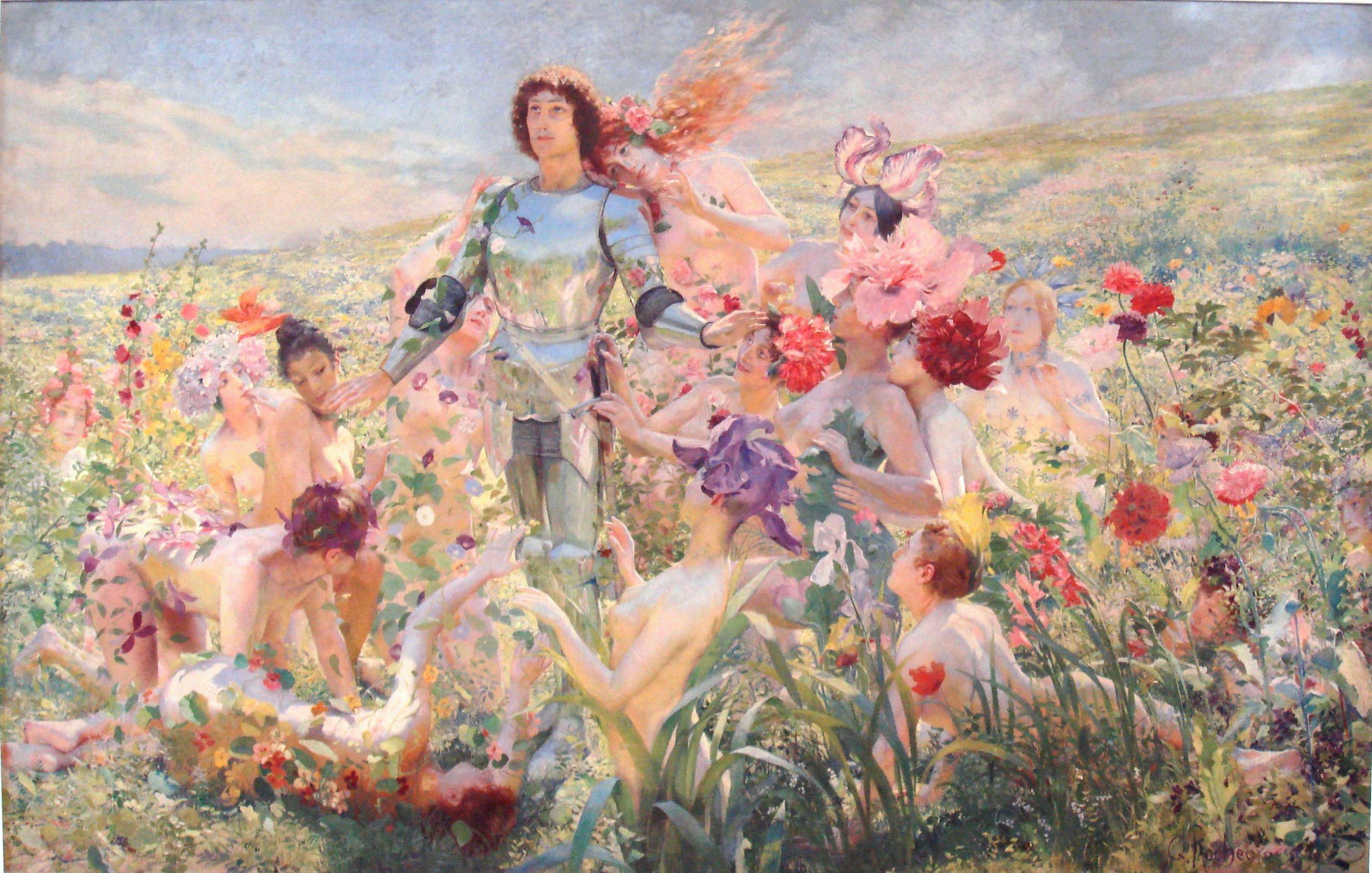 Le_Chevalier_aux_Fleurs_1894_Georges_Rochegrosse Musee Orsay