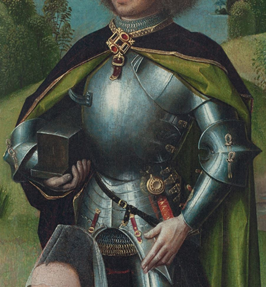Maestro de la Leyenda de Santa Lucía 1475 ca Triptyque de la Passion volet droit Thyssen Bornemisza detail